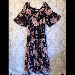 Nordstrom Eliza J off shoulder blouson maxi dress